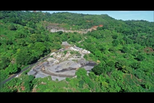 Carrière de Moutsamoudou vue par drone