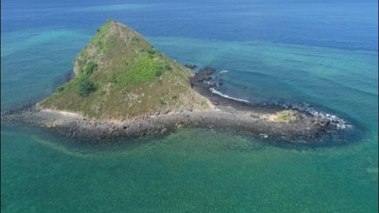 Vue de drone de l\'îlot SADA