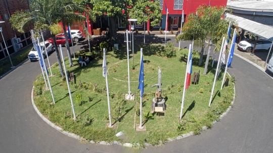 Conseil départemental vue par drone