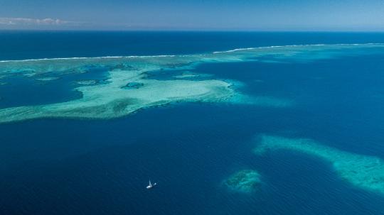GLB 462 Récif coralien et voilier