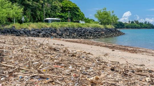 GLB277 déchets plage du four à chaux