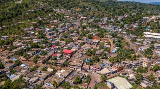 GLB282 village de Koungou aérien