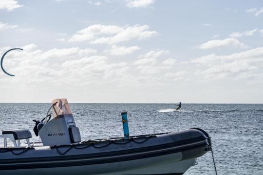 Kitesurf ilot sable blanc-3