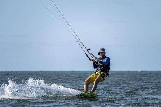 Kitesurf ilot sable blanc-4