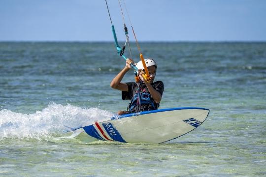 Kitesurf ilot sable blanc-6