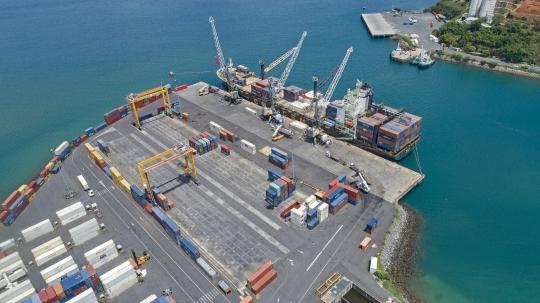 Opération de manutention sur cargo - Port Longoni