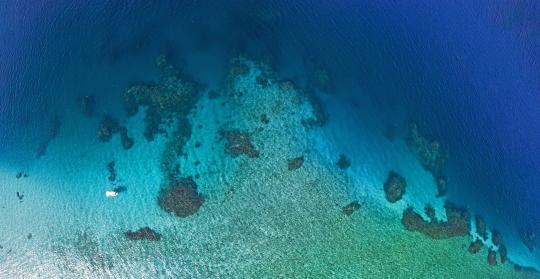 Panoramique du récif Rani - Sud