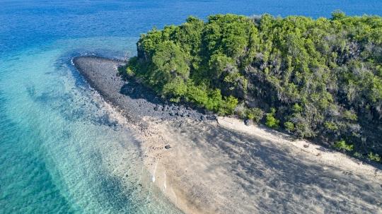 Vue aérienne de l\'îlot Bambo