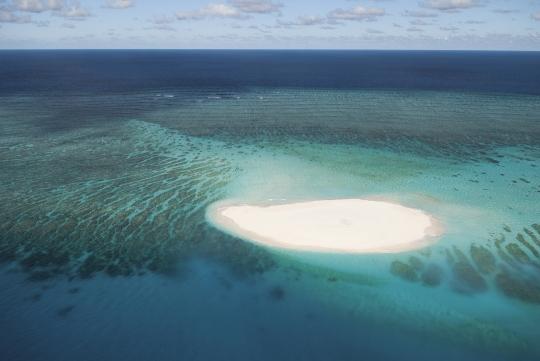 Vue aérienne îlot de sable blanc - Nord - Mayotte