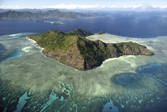Vue aérienne îlot Mtsamboro - Mayotte
